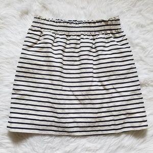 Linen Blend J Crew Factory Striped Skirt 6